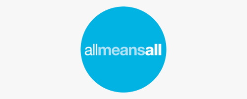 all means all logo