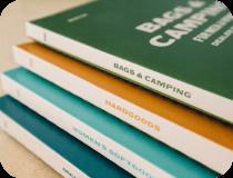 Colorful dealer books for Burton Snowboards