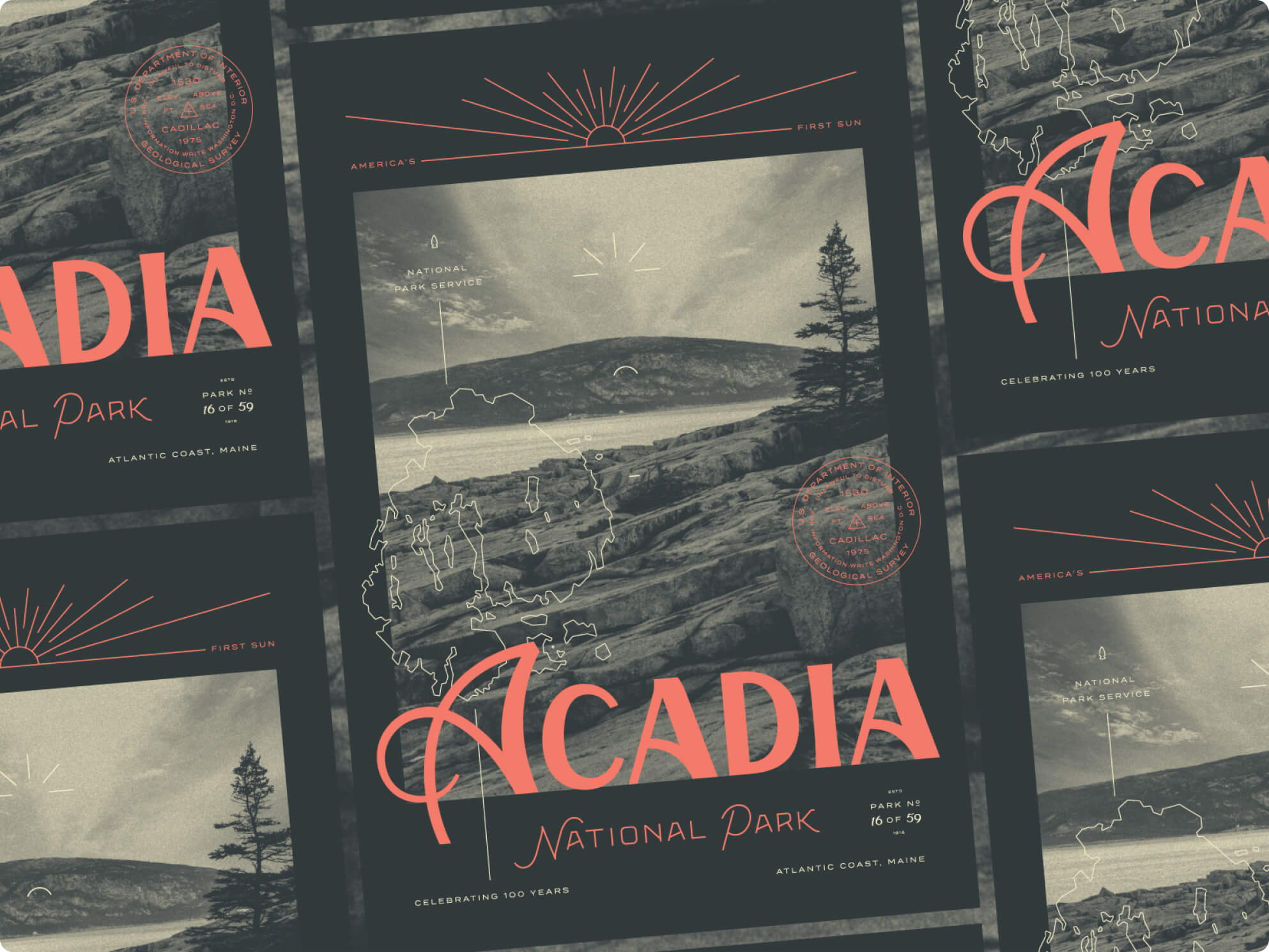 Acadia poster for Type Hike