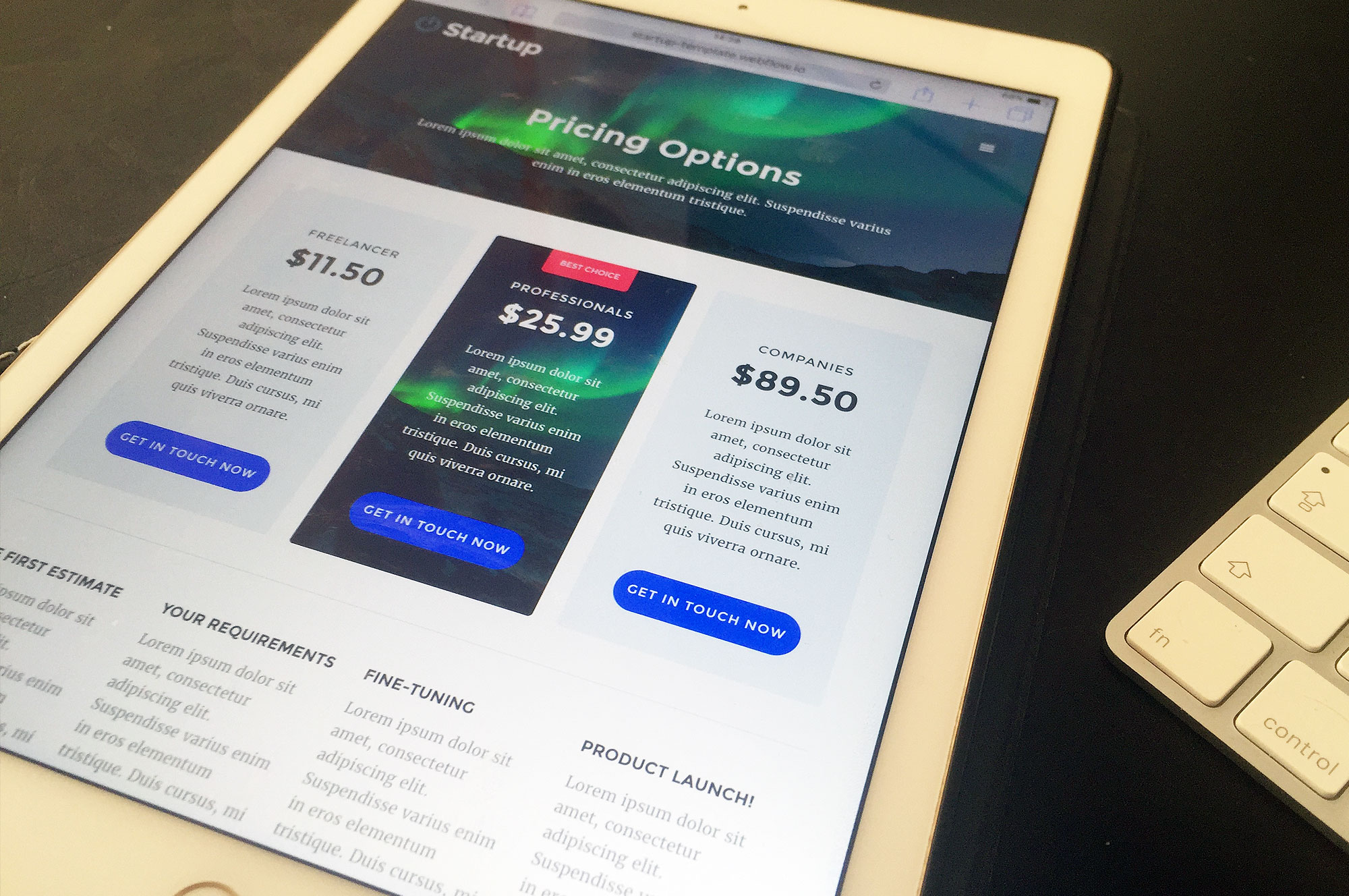 Webflow Startup Template
