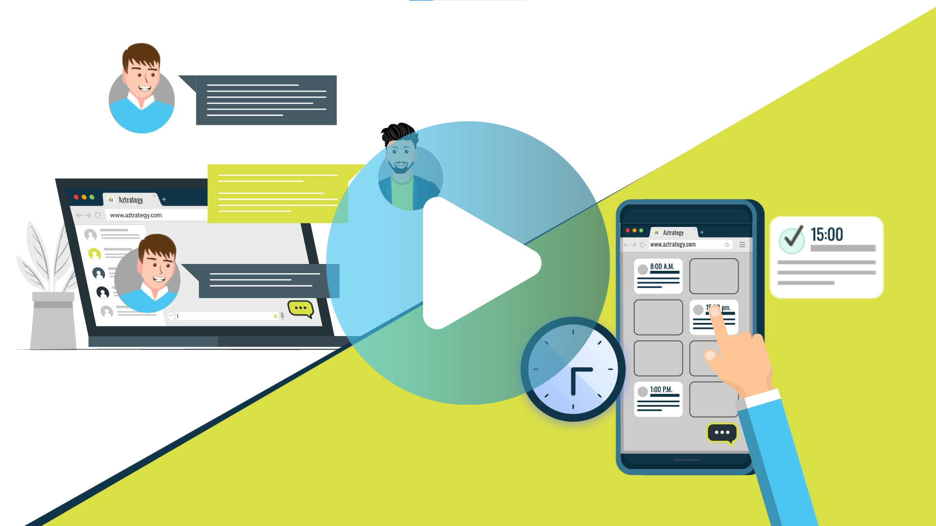 business explainer video for aztrategy digital agency
