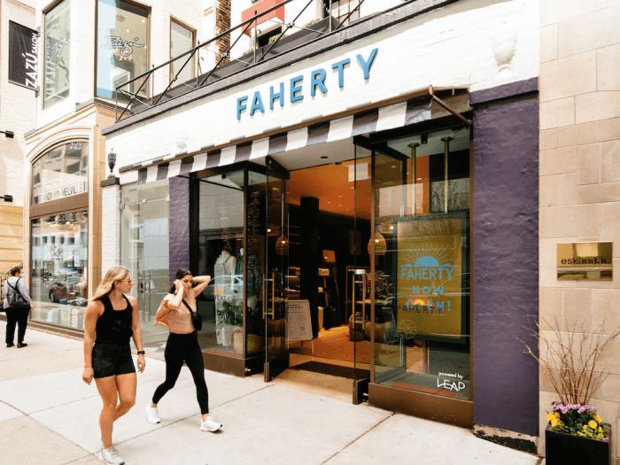 Faherty photo of retail store