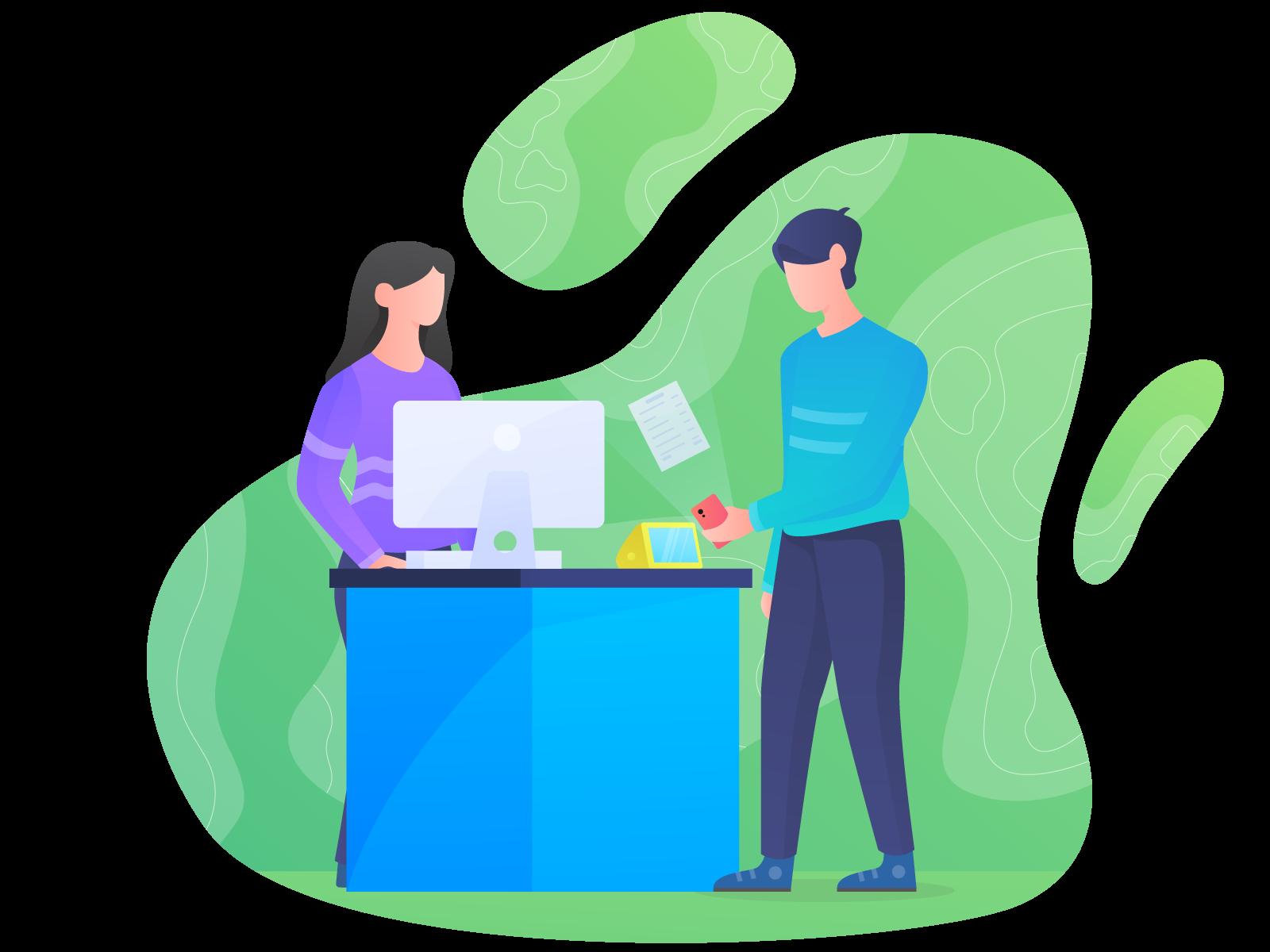 Retailer illustration