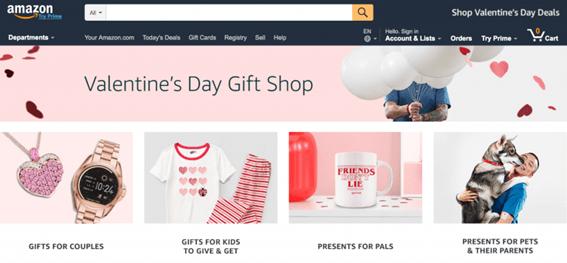 San Valentín - ejemplo Amazon - TCB