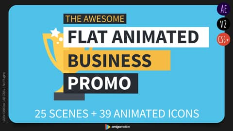 The infographics explainer video is great for explaining and promoting many aspects of your business including; your growth, products, services, contact info, awards, offices, team, portfolio and more.