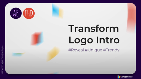 Use this logo intro template to transform your logo with an elegant style.
