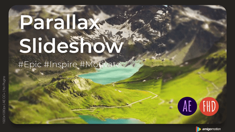 Display your images or videos with the stunning cinematic parallax video effect. The parallax opener is perfect for your next media opener, presentation, or promo. Just add your media, change the text, and render.
