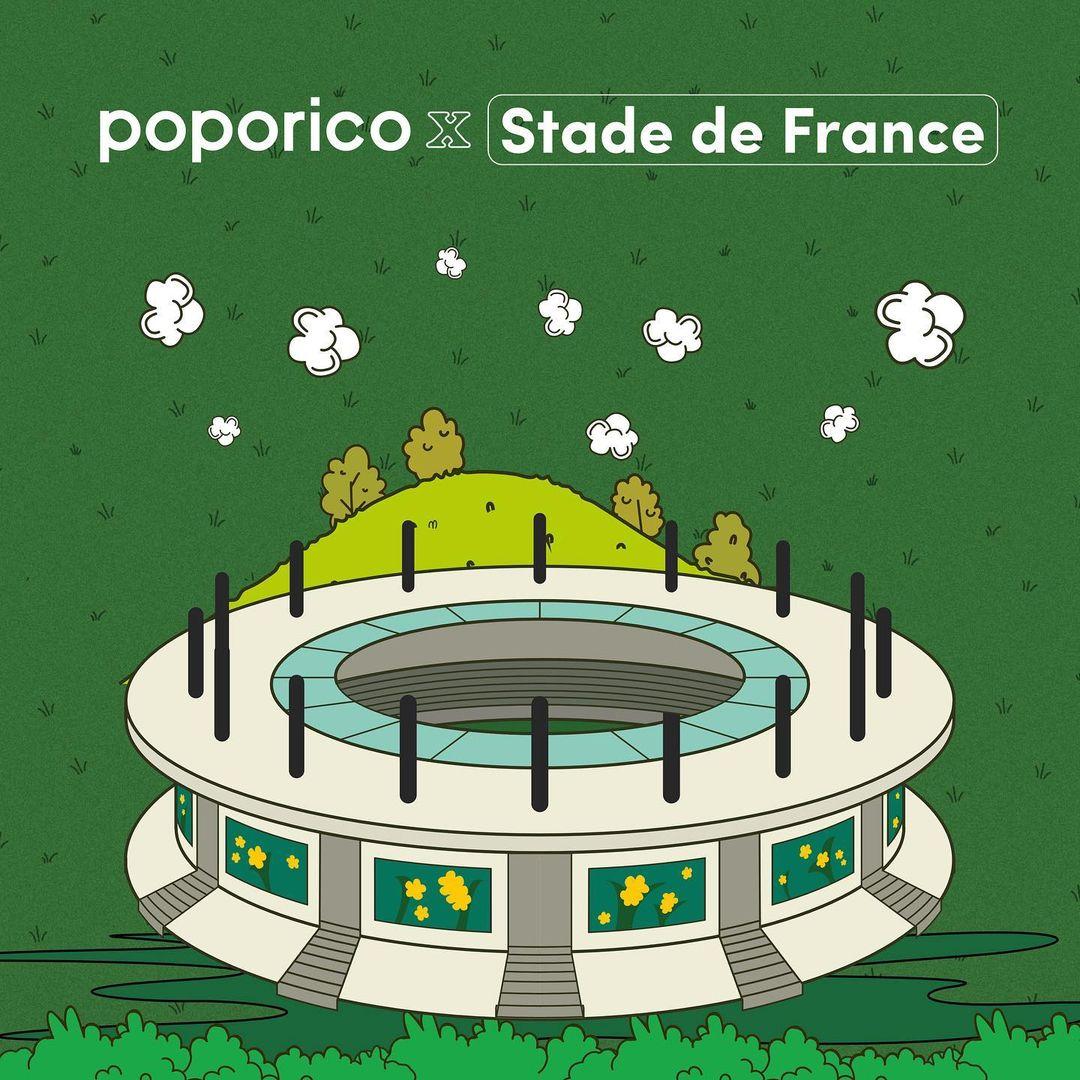 Illustration stade de France Poporico