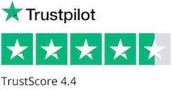 Trustpilot reviews - 4.4 TrustScore