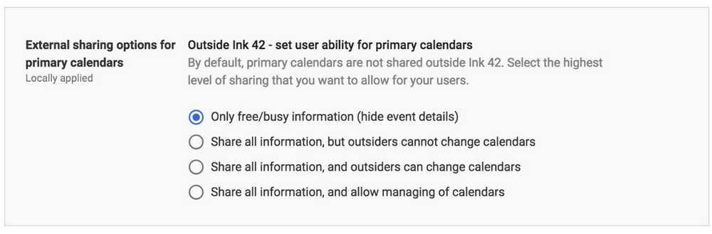 g suite security checklist - Information Sharing