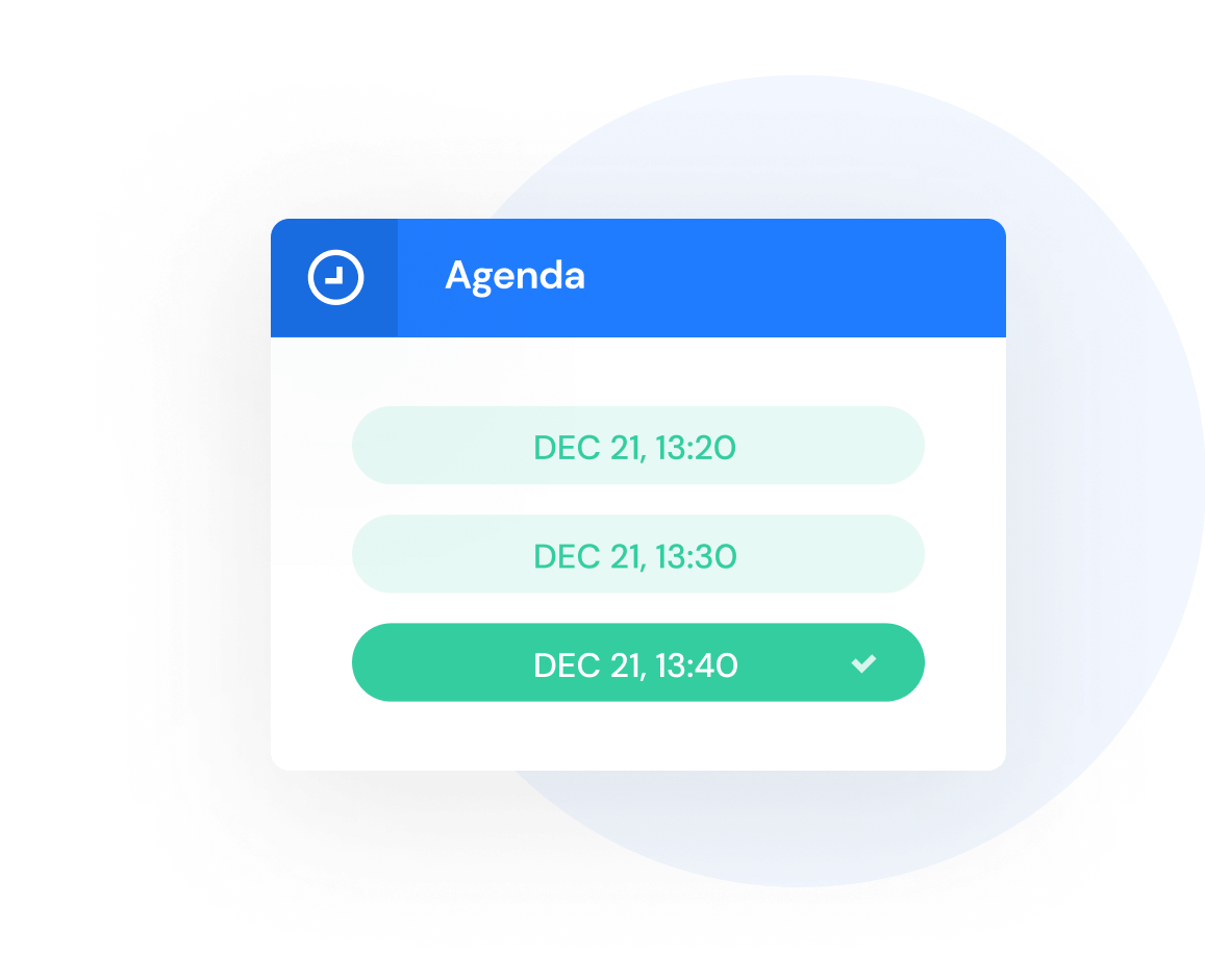 Selecting a time slot for a meeting