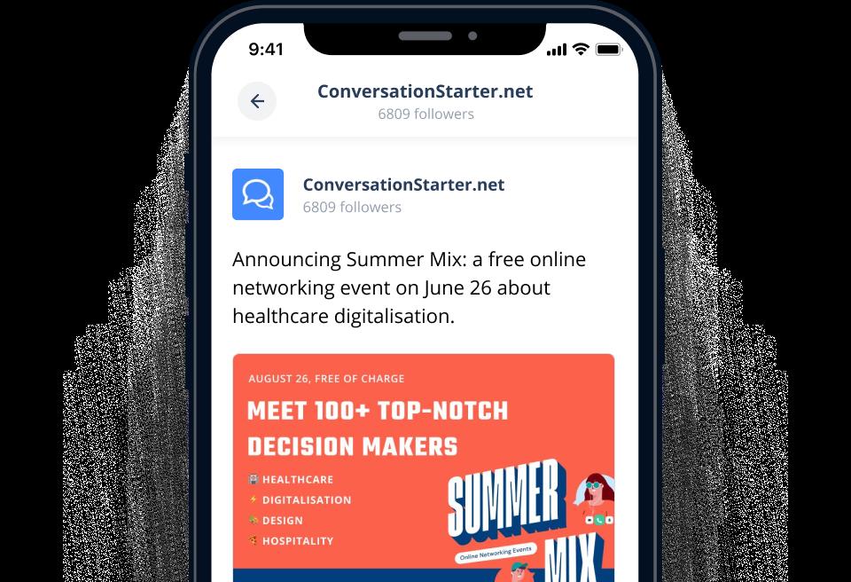 Conversation Starter on social media
