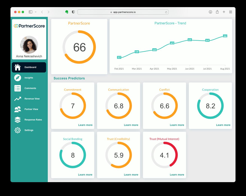 PartnerScore app screenshot