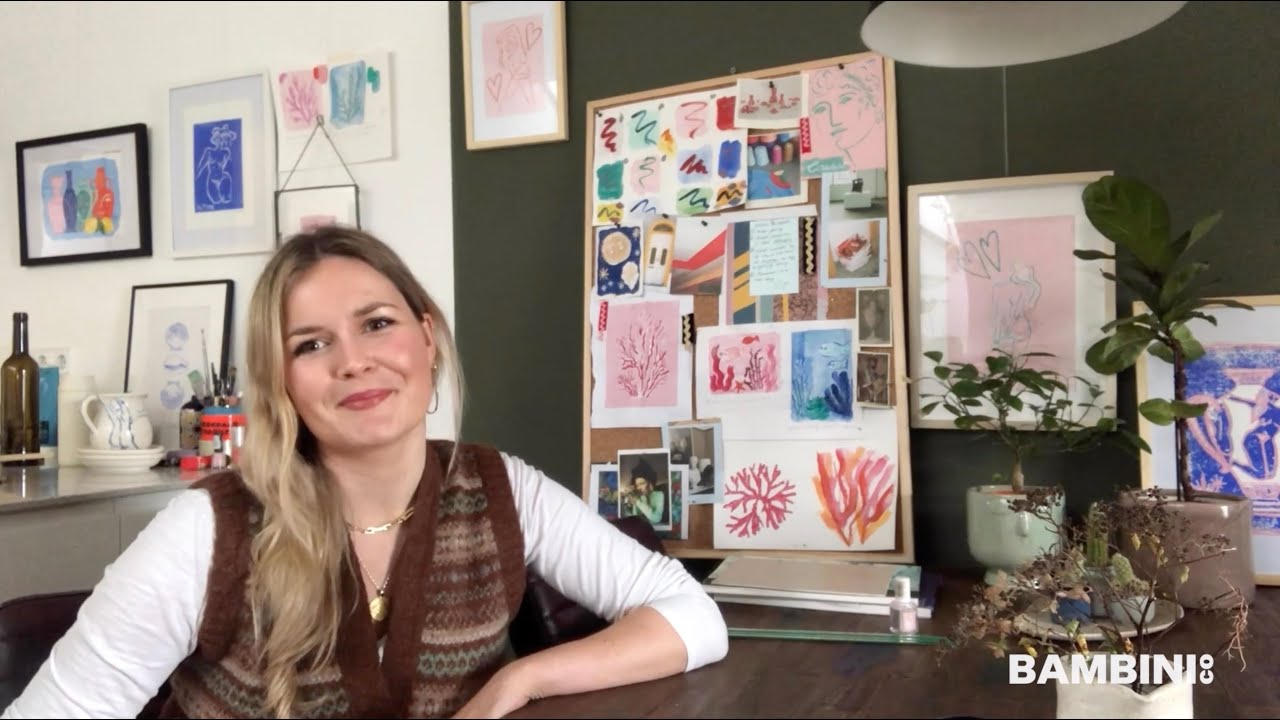 Artist Sasha Compton will take you through a lino printing tutorial inspired by Botticelli Shells.