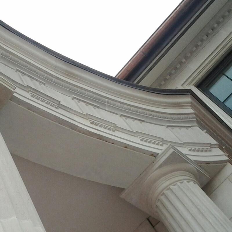 Limestone Columns and stone decor.
