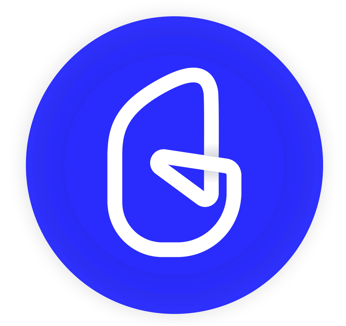 Gigable Logo with blue background