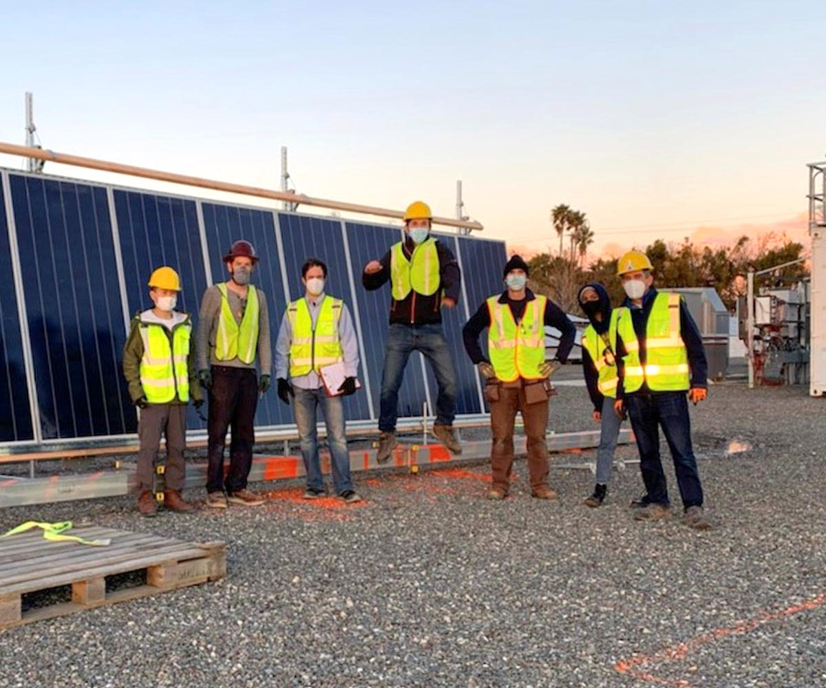 Terabase team posing at research and development facility