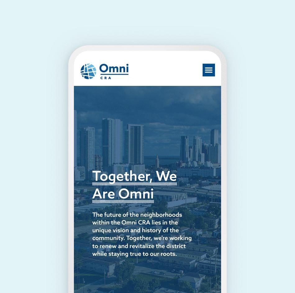 Omni CRA mobile website