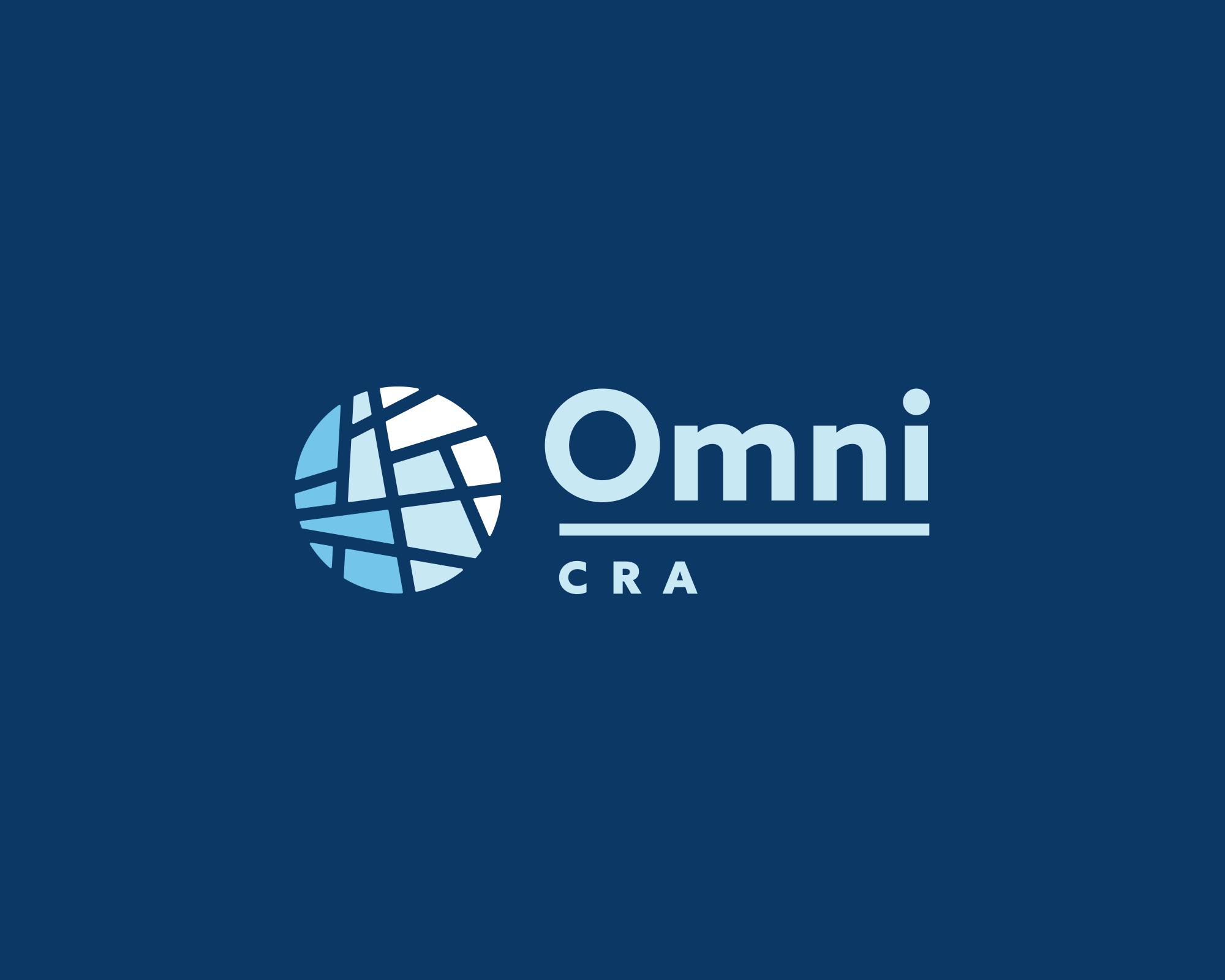 Omni CRA horizontal logo on dark background