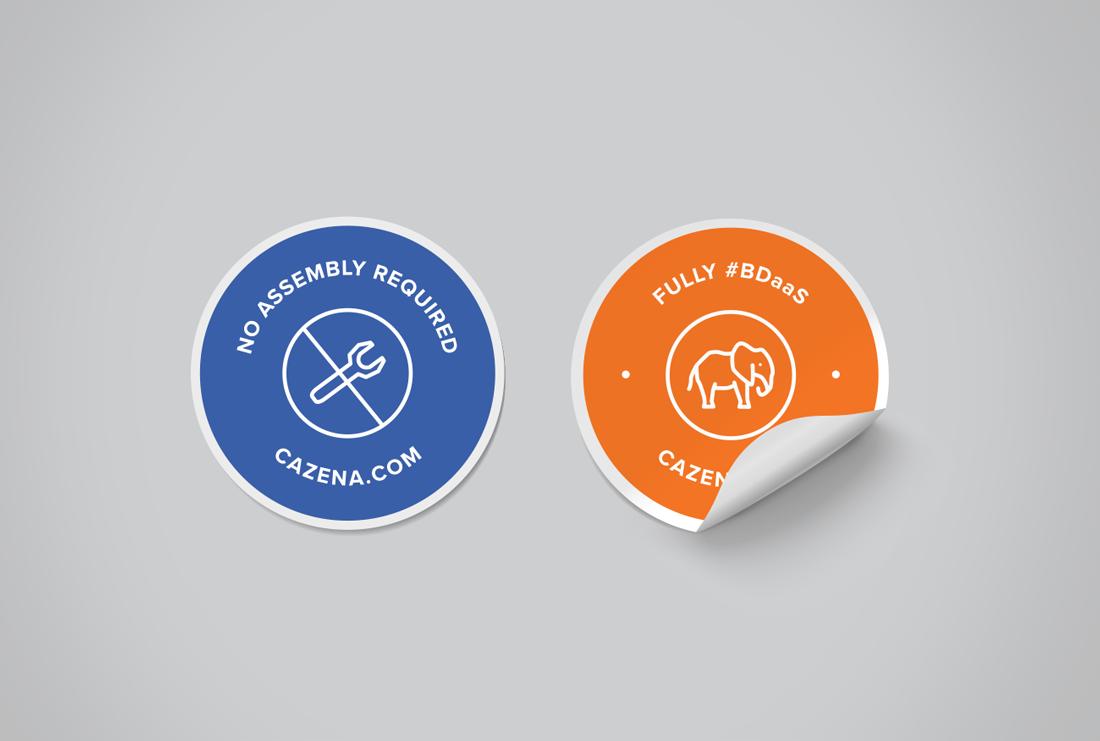 Cazena DIY Big Data stickers