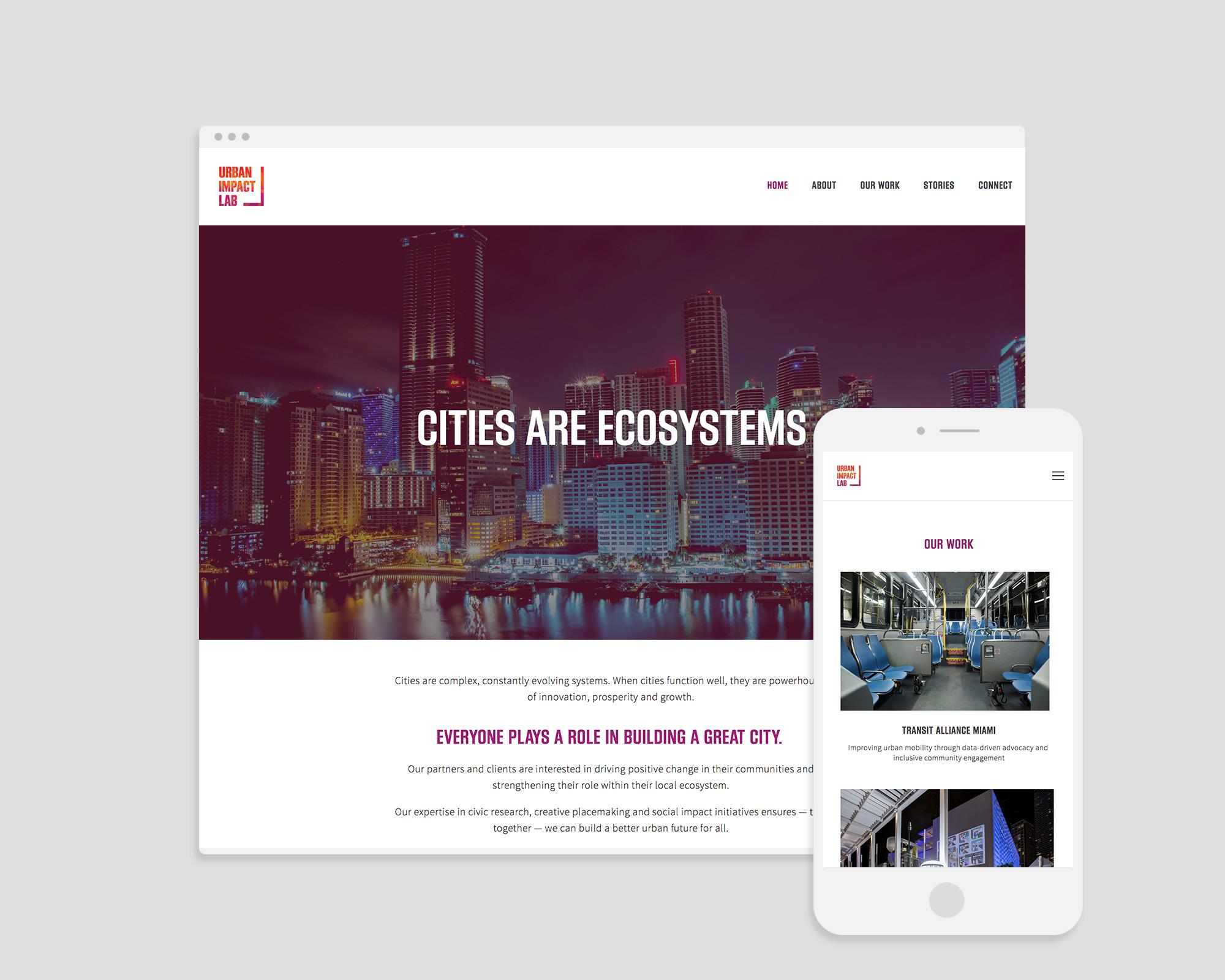 Website on desktop and mobile