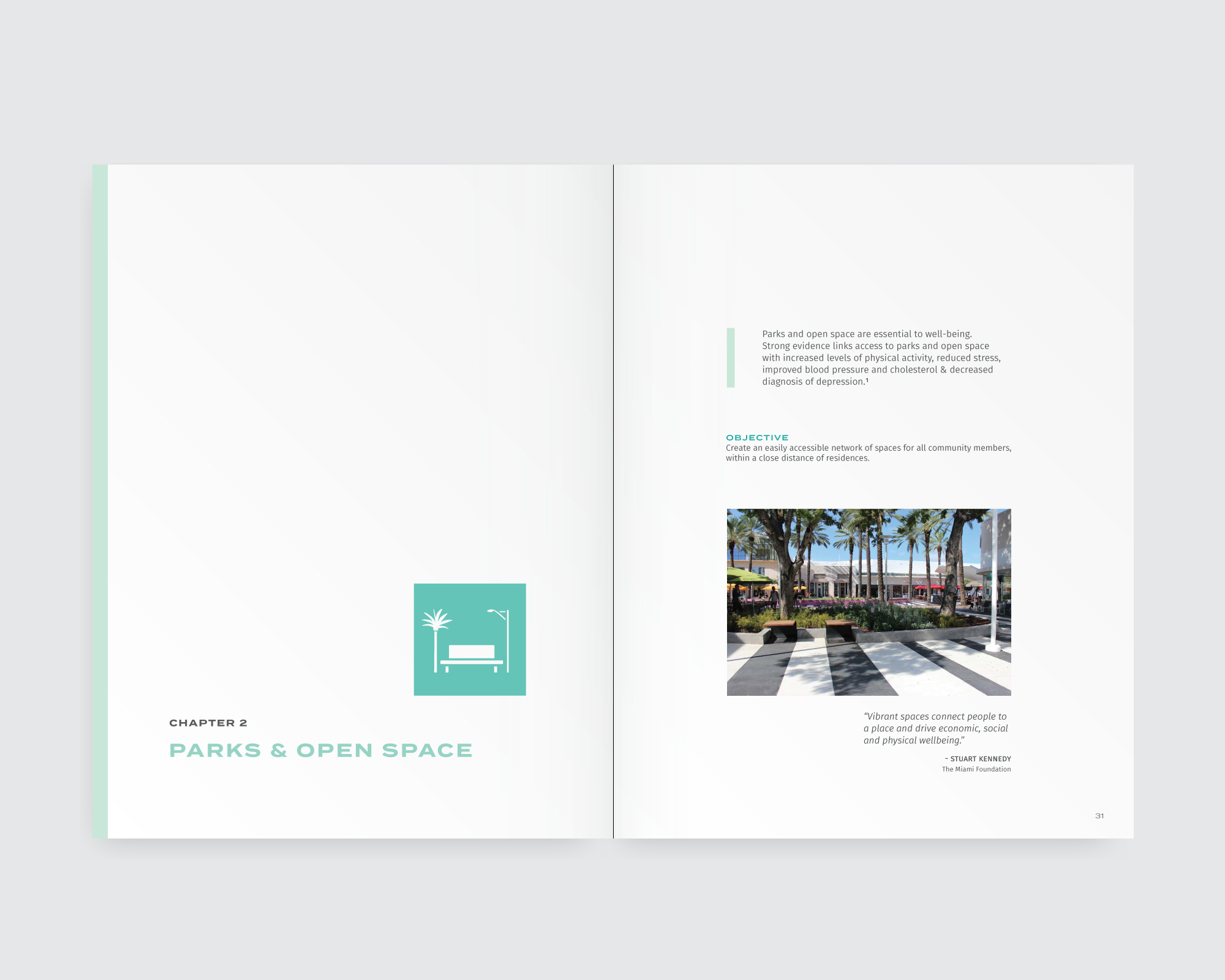 Handbook design—book layout showing chapter heading and icons in use
