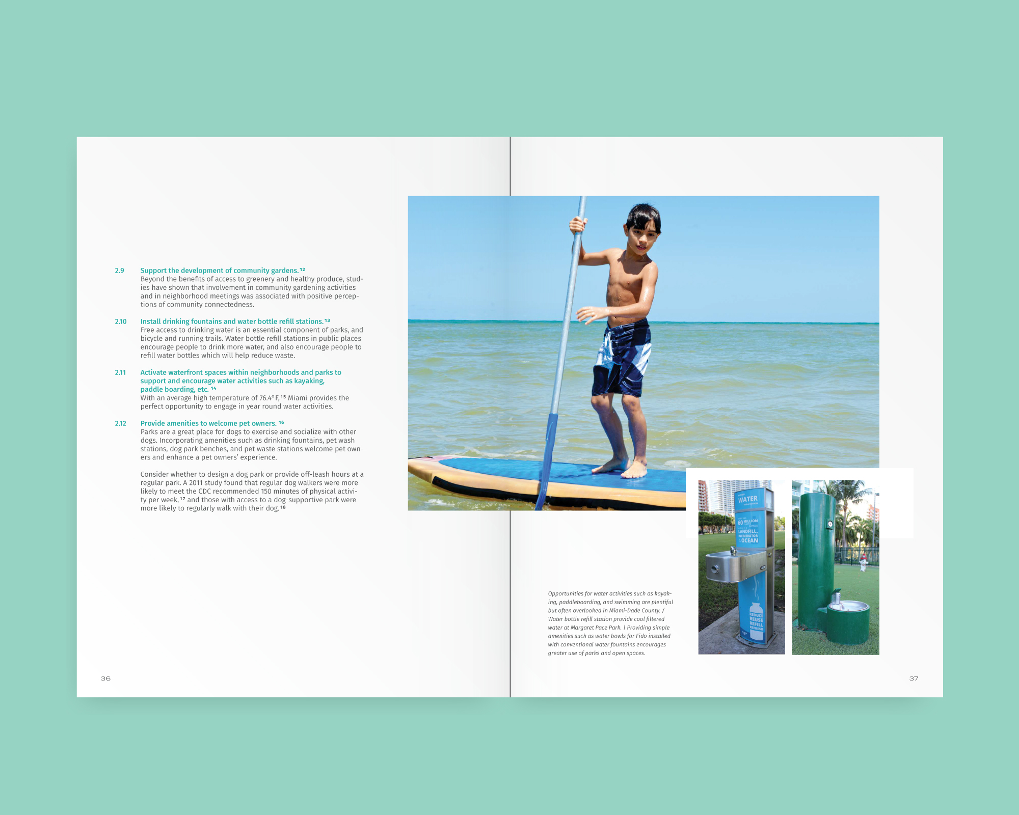 Handbook design—book layout design recommendations and photography of public space