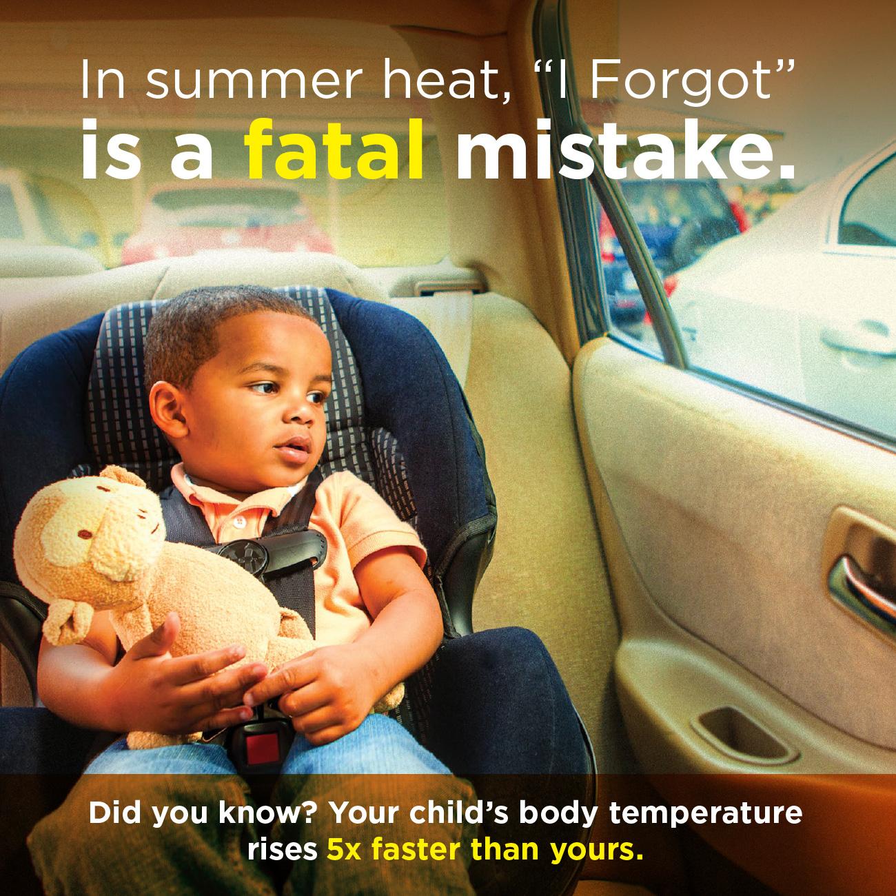 Hot Car campaign graphics