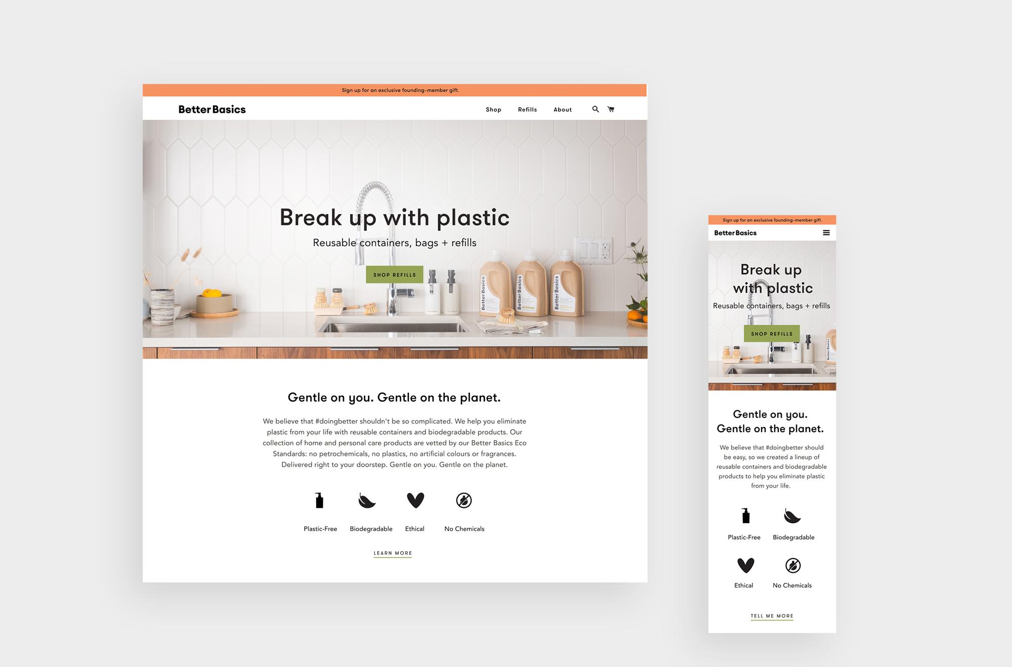 Better Basics Website Screenshots
