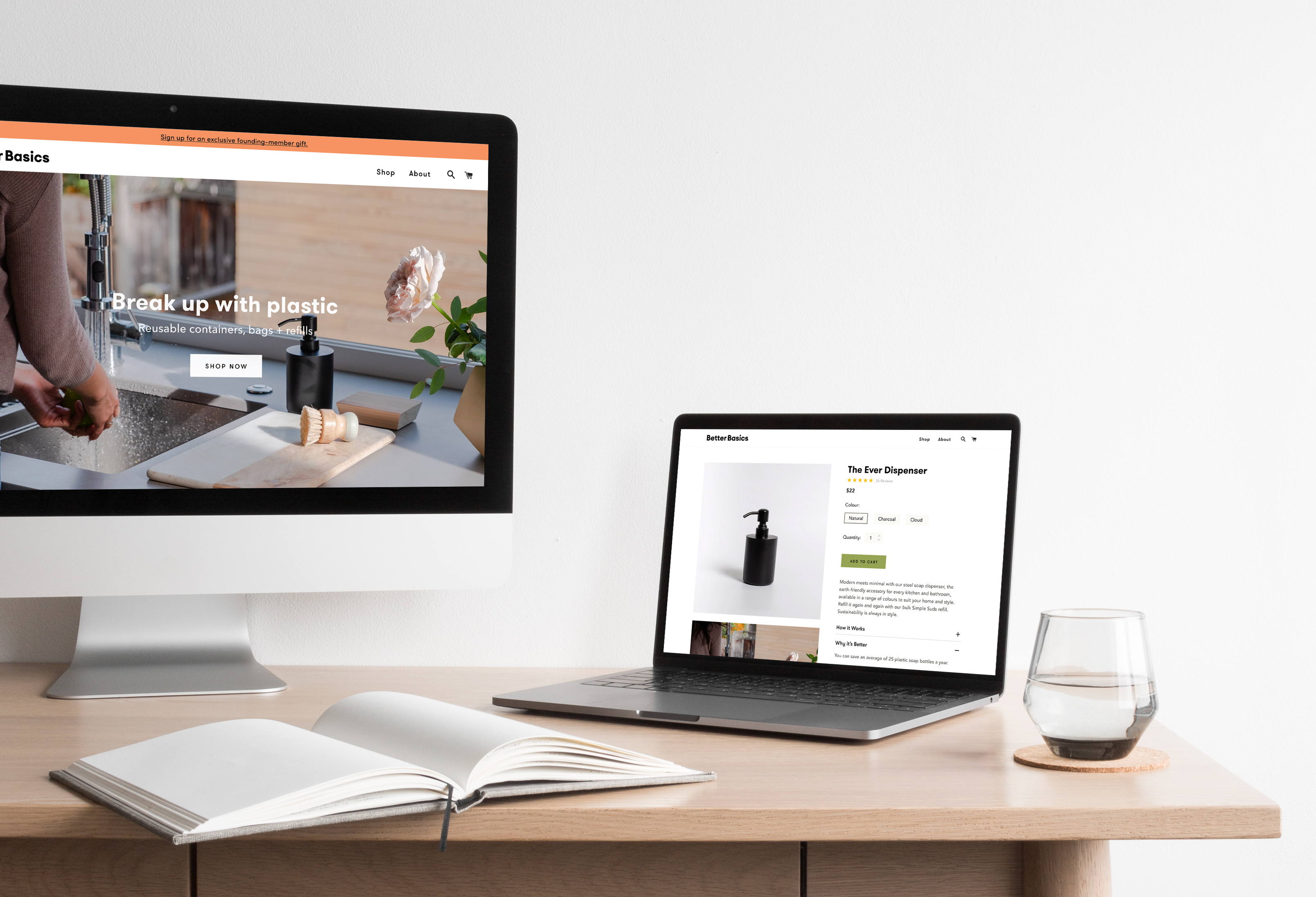 Better Basics Website on a Desktop and Laptop