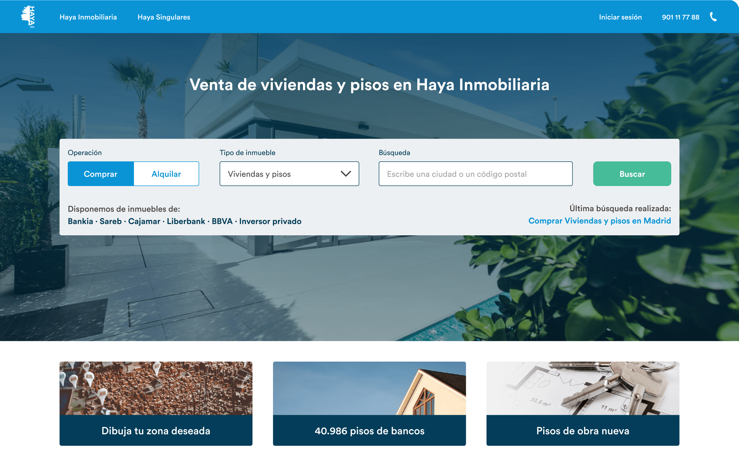 Haya homepage website screenshot