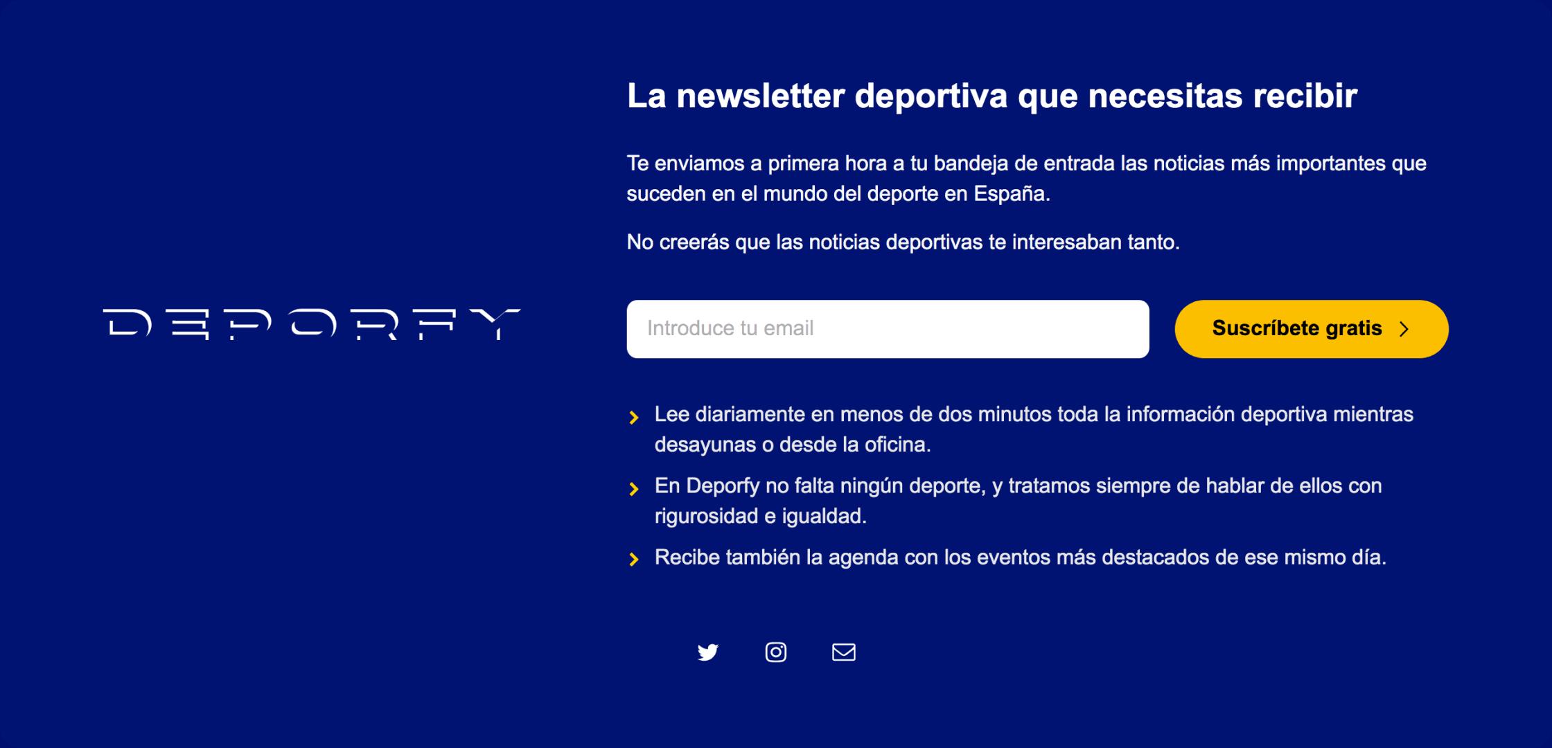Deporfy website screenshot