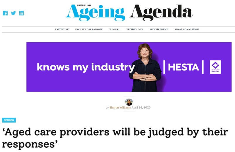 Thought leadership article on marketing in the aged care sector with Australian Ageing Agenda