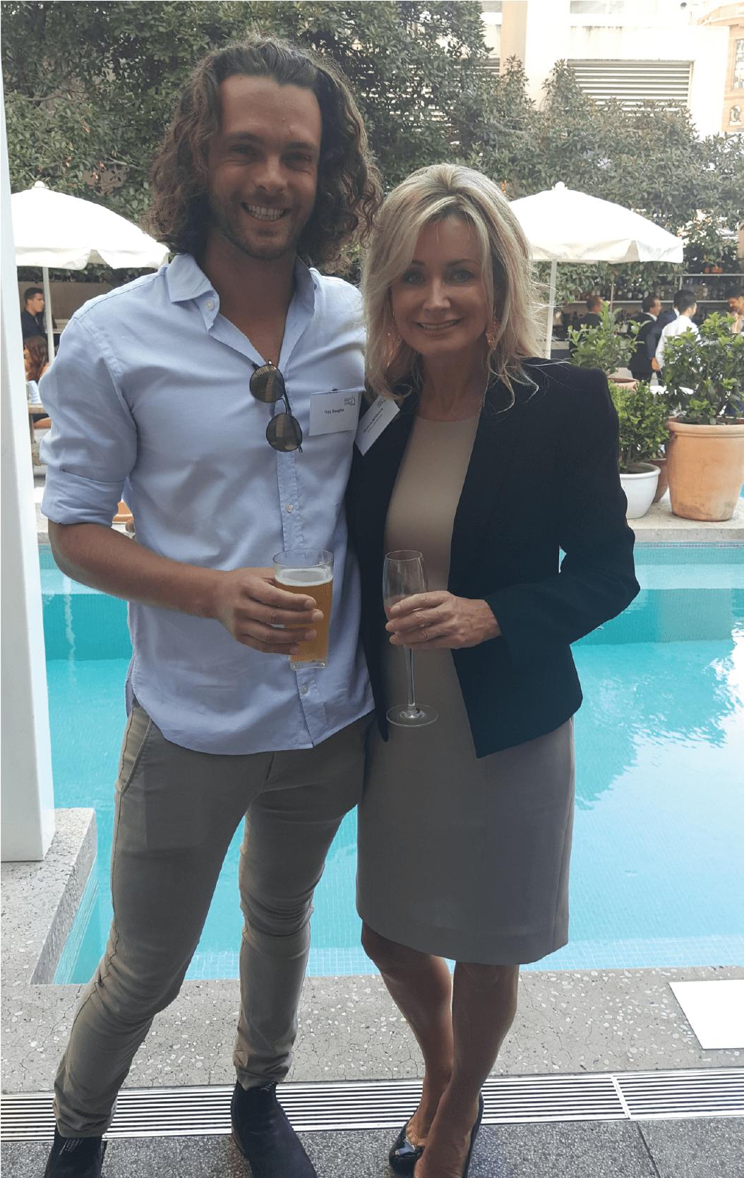 Sharon WIlliams with Troy Douglas Co-Founder of Nexba