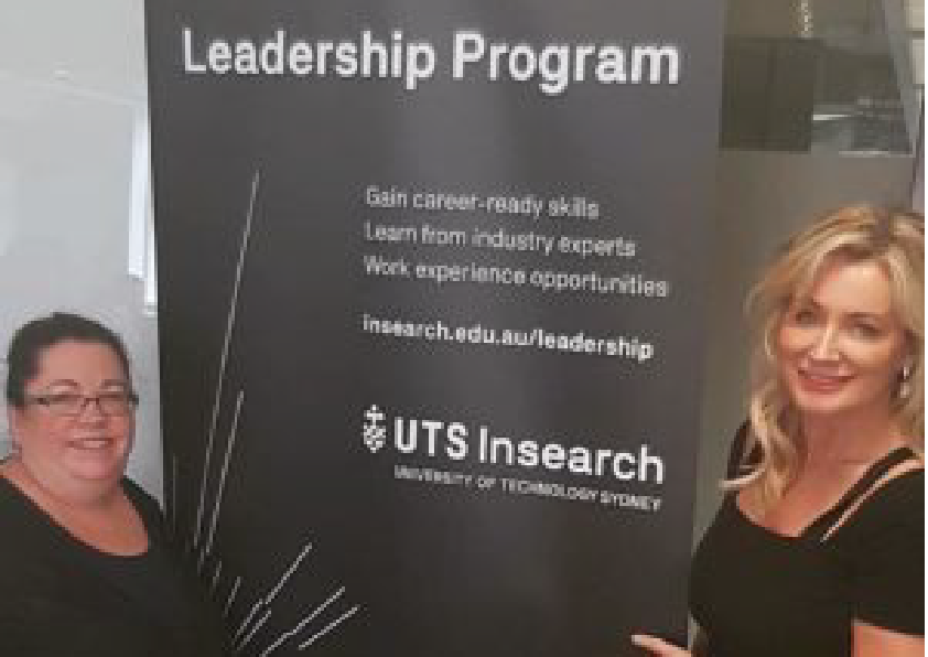 Sharon WIlliams with Kate Dennis at a leadership program for UTSInsearch