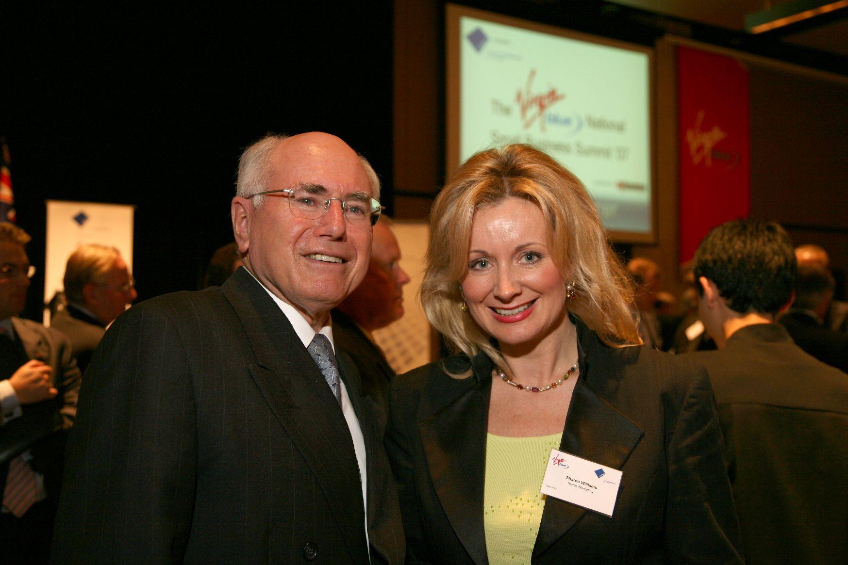 John Howard Former Prime Minister of Australian & Sharon WIlliams