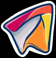 Paper plane emoji.
