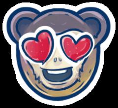 In love Xamarin emoji.