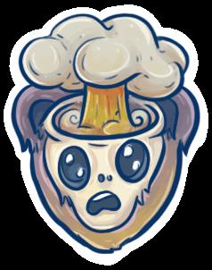 Exploding Xamarin head emoji