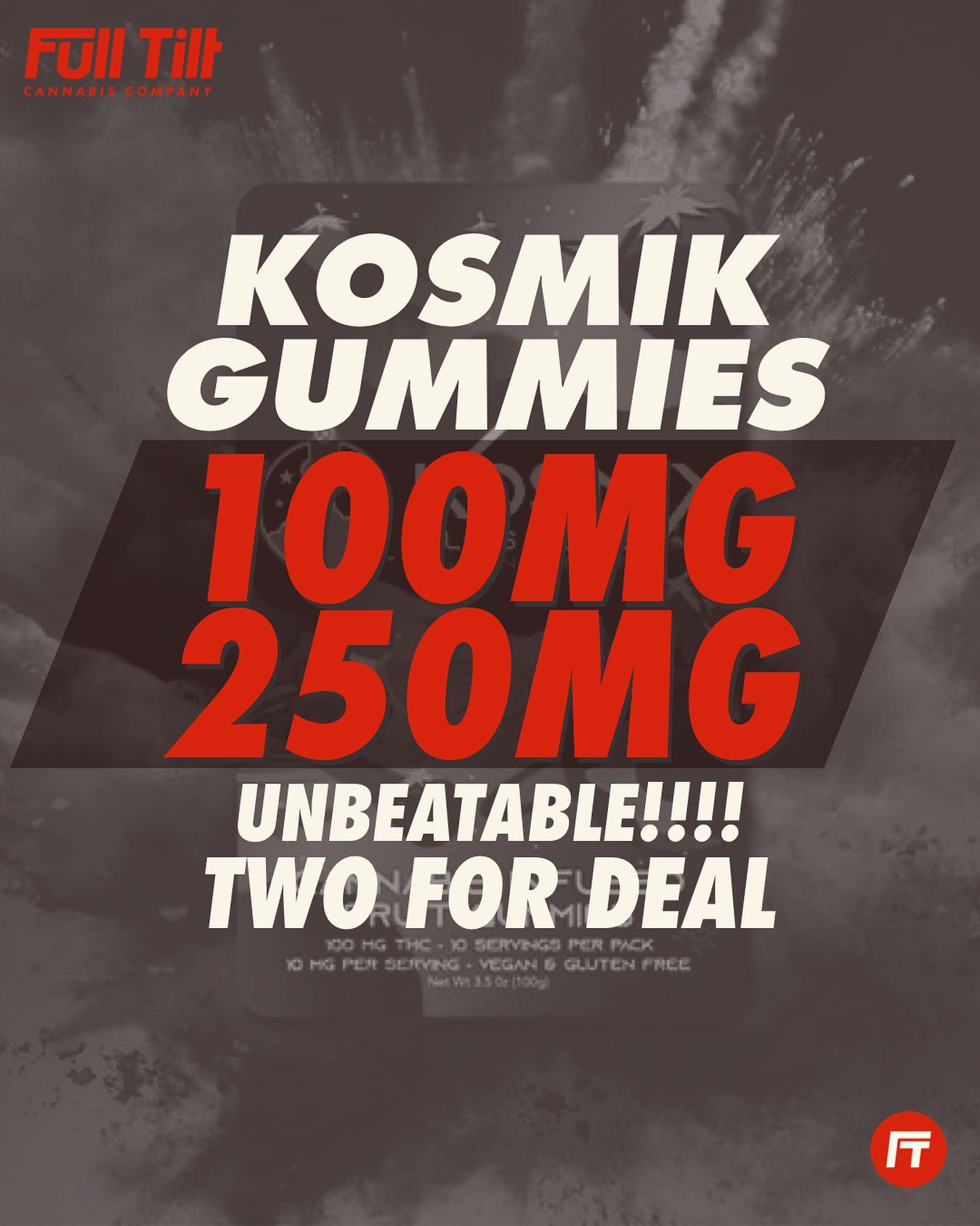 Set up for an epic weekend with our intergalactic deals on @kosmikbrands gummies! Visit One of our dispos in Grove Vinita or Miami today! #miamiok #groveok #vinitaok #livefulltilt