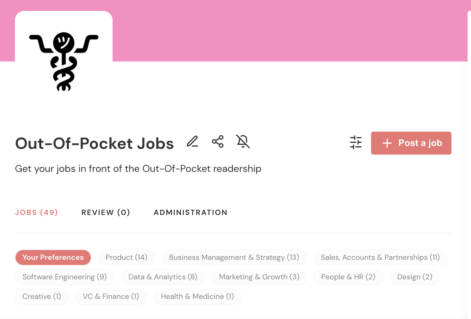 Announcing the Out-Of-Pocket Job Board!