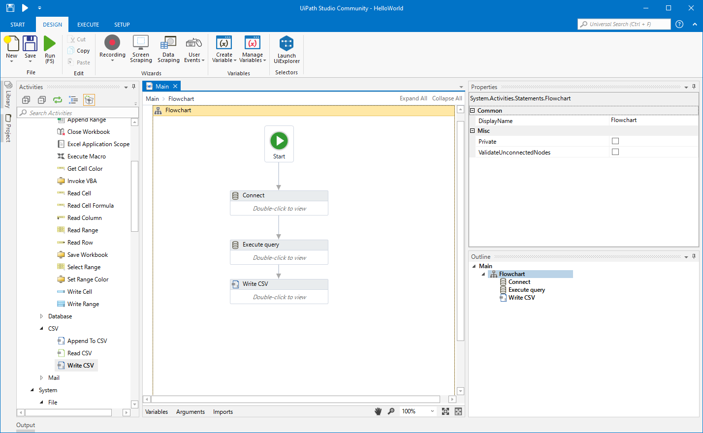 Create an RPA Flow that Connects to ServiceNow Data in UiPath Studio