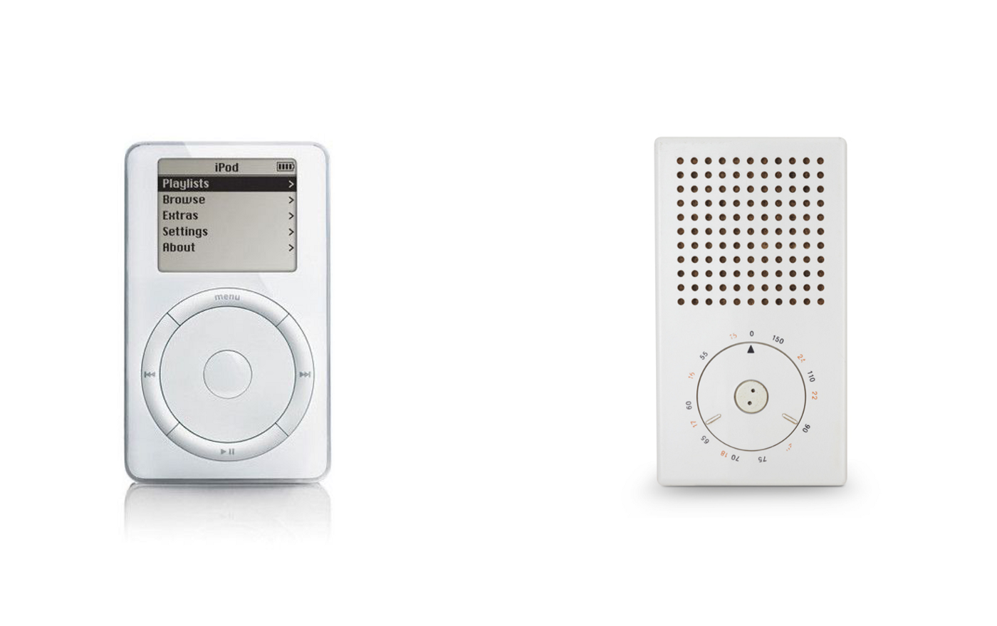 Original iPod (2001) and Braun T3 (1958)