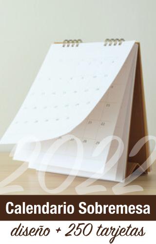 calendario oficina sobremesa empresa 2022
