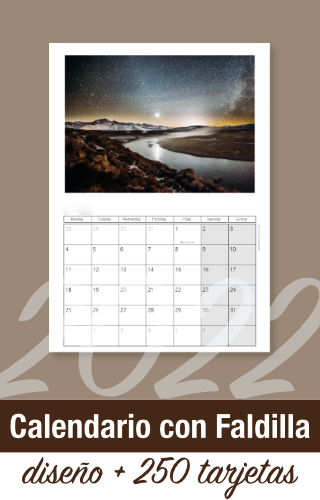 calendario oficina faldilla empresa 2022