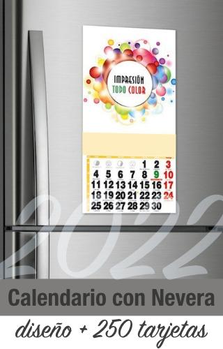calendario oficina nevera empresa 2022