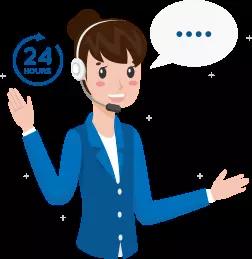 Customer Support Women Illustration