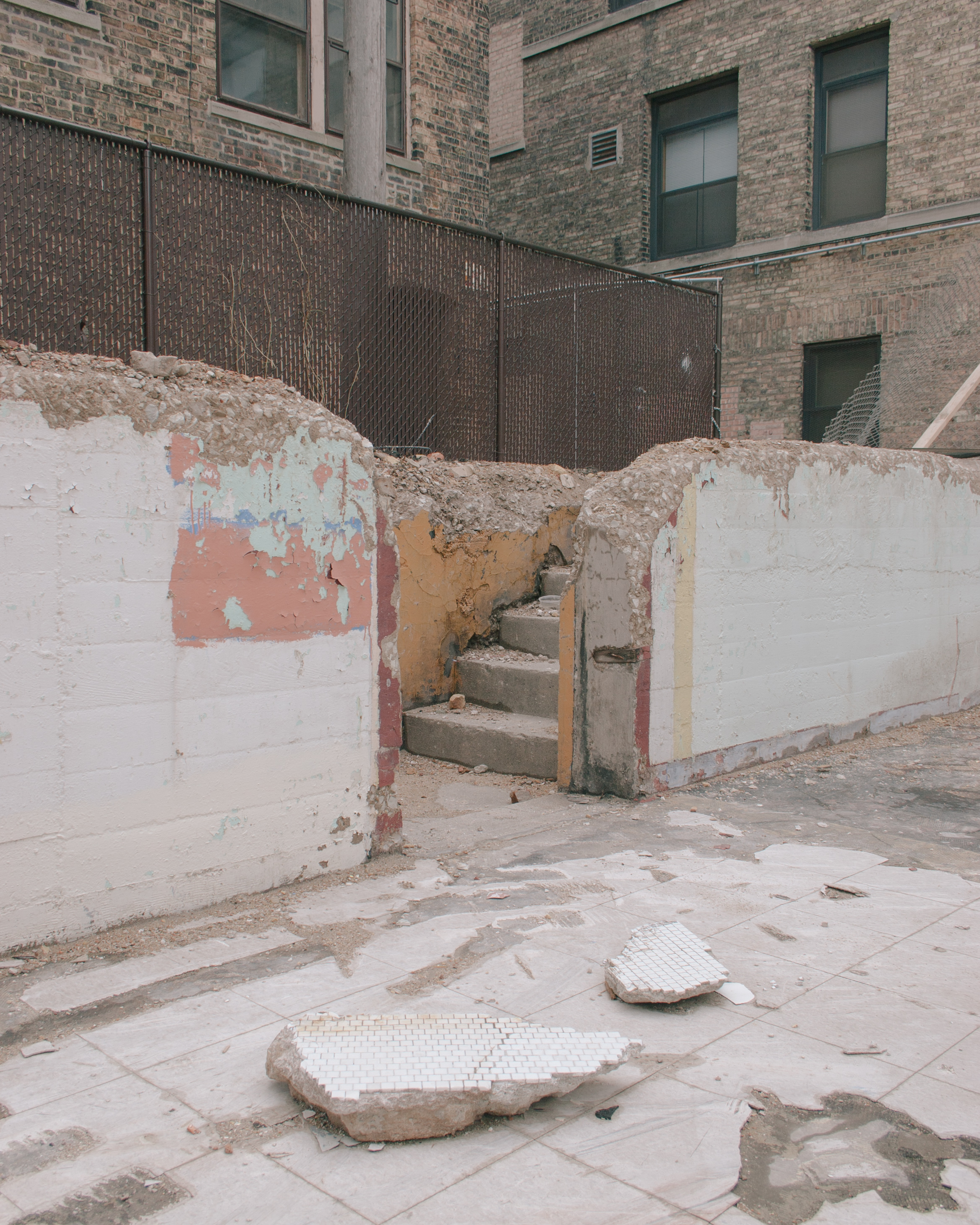 Stairs that head to no where in Chicago, Illinois