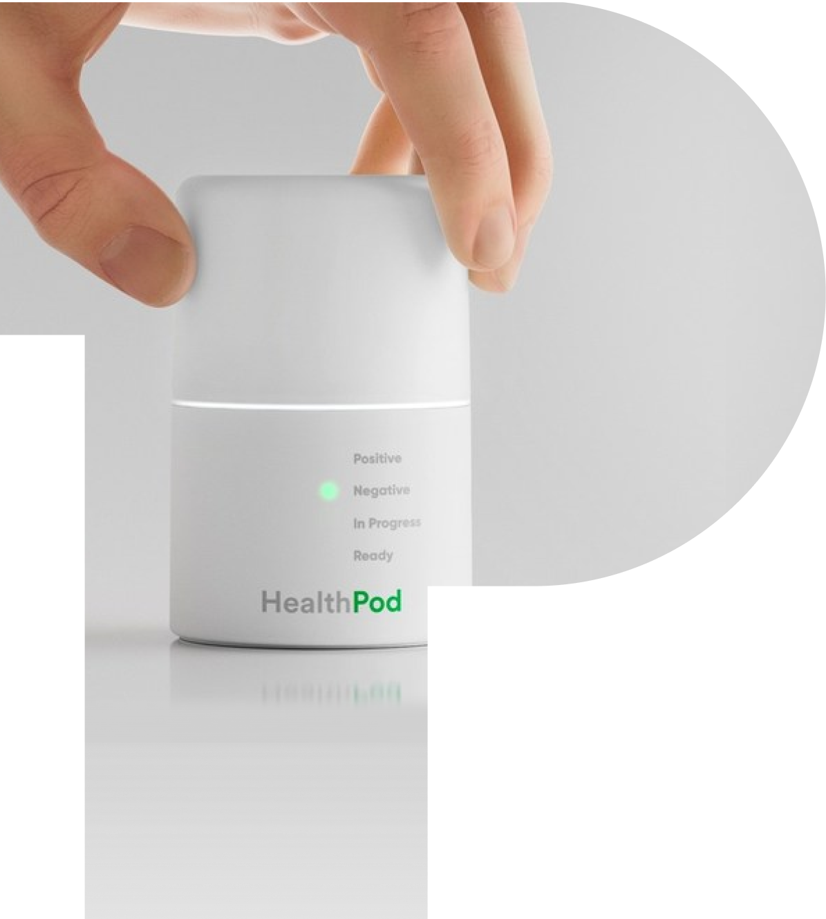 hand holding healthpod