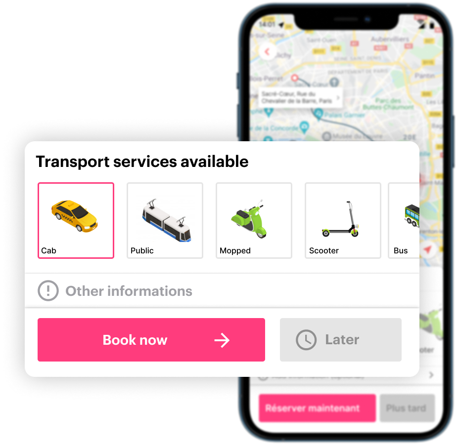 All available transport